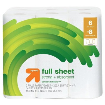 Full Sheet Paper Towels - Big Rolls - Up&Up™ (Compare to Bounty®)