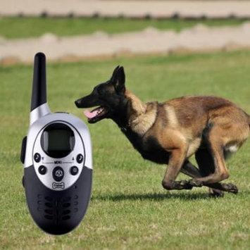Black 1000 Yard Rechargeable Waterproof Lcd Shock Vibra Remote Pet Dog Training Collar