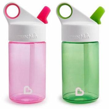 Munchkin Pink/Green 12-ounce Sports Water Bottles (Set of 2)