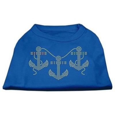 Ahi Rhinestone Anchors Shirts Blue Med (12)
