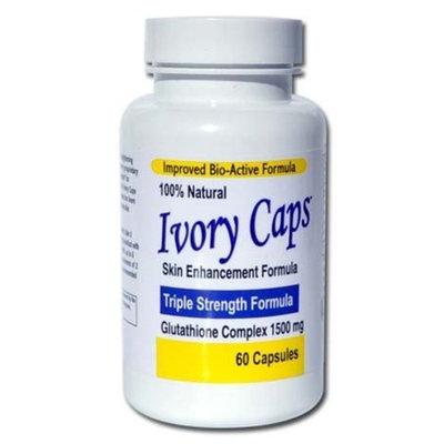 Ivory Caps - Maximum Potency 1500 mg Glutathione Skin Whitening Pills Complex, 60 Capsules