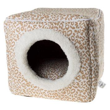 Petmaker Cat Cave Pet Bed Tan / White