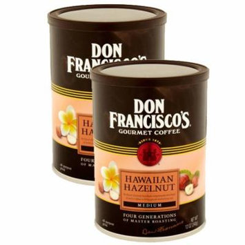 Don Francisco's, Hawaiian Hazelnut Ground Coffee, 12oz Canister, 2 Pack
