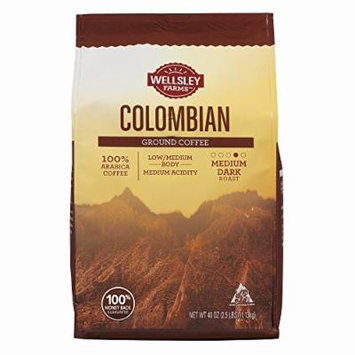 Wellsley Farms Colombian Ground Coffee, 40 oz. (pack of 2)