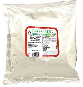 Frontier Natural Products Organic Cocoa Powder Non-Alkalized 16 oz