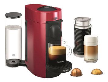 Nestle DELENV150RAE Nespresso VertuoPlus Coffee and Espresso Maker by De'Longhi with Aeroccino, Red