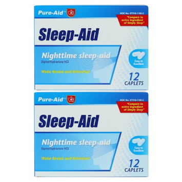 Pure-Aid Sleep Aid-12 caplets (2 Pack)
