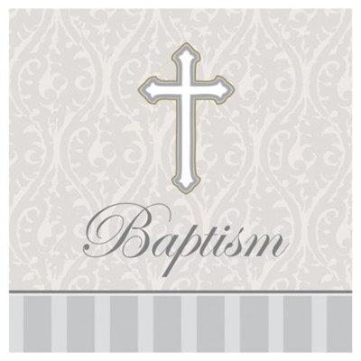 Devotion Lunch Napkins 3-Ply Baptism (192 Count)