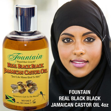 Fountain Organic, no salt JBCO twin- pack/ free claw comb hair growth serum, dry hair repair, eyebrow & eyelash growth, scalp treatment, hand processed black castor oil from Jamaica (Pack of 3)