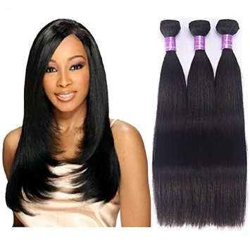 Brazilian Virgin Hair Straight Human Weave 3 Bundles Unprocessed Remy Raw Cheap 100 Hair Extensions Weft Deals For Women Natural Black Color 12 14 16 Inch