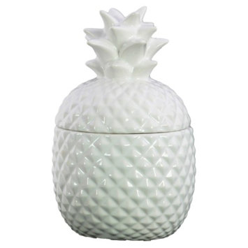 Urban Trends Collection Urban Trends 7 in. Ceramic Pineapple Canister
