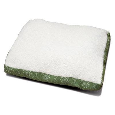 FurHaven Deluxe Plush Pillow Pet Bed Jade Green