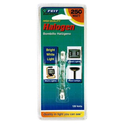 Feit Electric BPQ250T3/CL/S 250-Watt T3 Double-Ended Linear Halogen Bulb with RSC Base, Clear