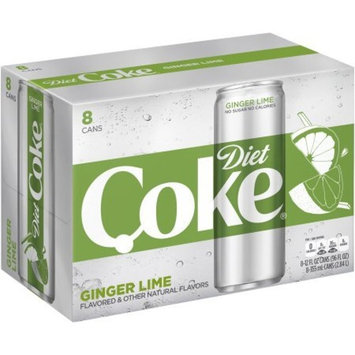 Diet Coke Sleek Can, Ginger Lime, 12 Fluid Ounce (64 cans)