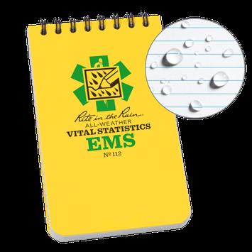 Rite in the Rain RITR112 EMS Vital Stats Notepad 3'x5'