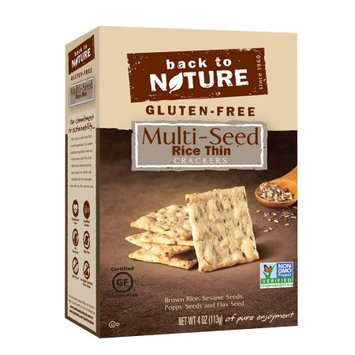Back To Nature Foods Back To Nature Gluten Free Rice Thin Crackers, Multi-Seed, 4 Oz