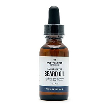 The Gentleman Beard Oil for Men - All Natural - 9 Nutrient-Rich Oils to Promote Beard Health