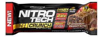 MuscleTech Nitro Tech Crunch Protein Bar, Chocolate Peanut Butter Twist, 12 Bars