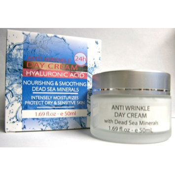 Anti-Wrinkle Hyaluronic Acid Day Cream Moisturizer With Dead Sea Minerals, 1.69 Ounce