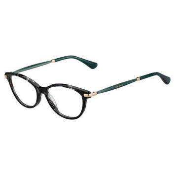 Jimmy Choo 153 Eyeglasses 01M5 52 Havana Green Gdcp [eyewear_frame_size: eyewear_frame_size-52]