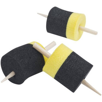 Celsius Ice Fishing Sponge Bobbers (Pack of 6), Black and Yellow Multi-Colored