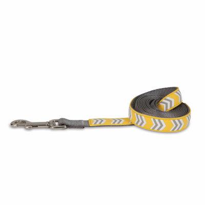 Petmate Rubber Dog Leash - Yellow Chevron