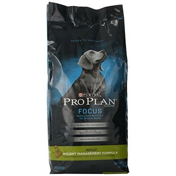Purina Pro Plan Dry Dog Food, Focus, Adult Weight Management Formula, 6-Pound Bag, Pack of 1 [Standard Packaging]