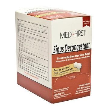 Medi-First 80933 Sinus Decongestant, 100-Packets of 1