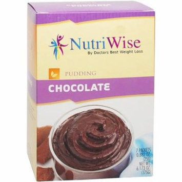 NUTRIWISE - High Protein Diet Pudding  Chocolate  Low Calorie, Fat Free, Sugar Free (7/Box)