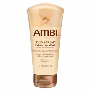 Ambi Skincare Even And Clear Exfoliating Wash Acne Treatment 5 Oz