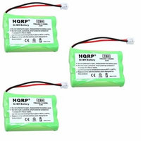 HQRP 3-Pack Battery for AT&T / Lucent 80-5848-00-00 8058480000 27910 00102 SB67108 TL74258 TL74308 TL74358 TL74408 TL74458 TL77008 TL72108 E5910 E5643 E5643B E5644B E5654B Cordless Phone + Coaster