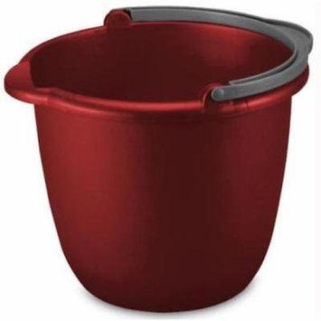 10 QT Classic Red Spout Pail Gray Handle 11-1/4