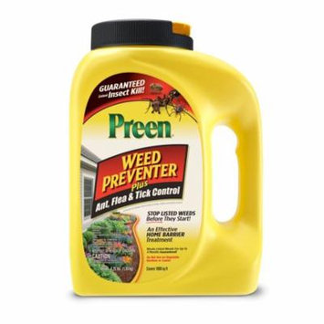 Preen Weed Preventer Plus Ant, Flea and Tick Control, 4.25 lb covers 1,000 sq ft