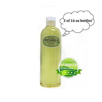 Dr. Adorable - 100% Pure Sweet Almond Oil Organic Cold Pressed Natural Hair Skin - 48 oz