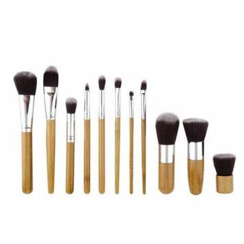 11Pcs Makeup Eyeshadow Foundation Concealer Brushes Sets+ Sponge Blender Puff