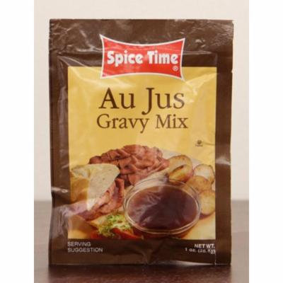 Pack of 24 Spice Time Au Jus Gravy Seasoning Mix 1 oz. #IO010