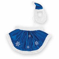 Velvet Winter Snowflake Dog Christmas Outfit, Medium