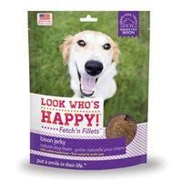 Look Who's Happy Fetch'n Fillets, Bison Jerky, 3 Oz