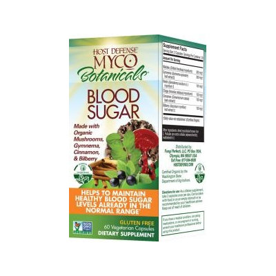 Fungi Perfecti / Host Defense MycoBotanicals Blood Sugar Fungi Perfecti/Host Defense 60 Caps