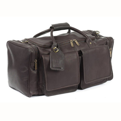 Claire Chase Cowhide Personalized Leather Duffel Bag