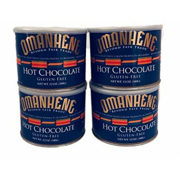 Omanhene Hot Chocolate Mix, 12-Ounce Canisters (Pack of 4)