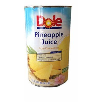 Dole Pineapple Juice, 46 Ounce (Pack of 2)