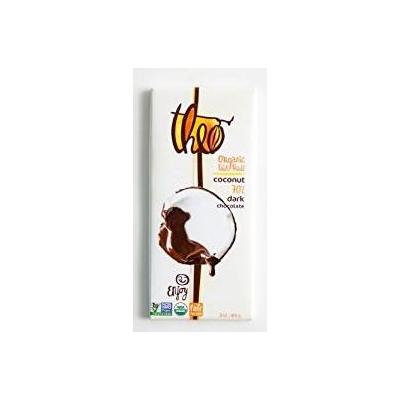Theo Organic Coconut 70% Dark Chocolate Bar - 3 oz. (Pack of 3)