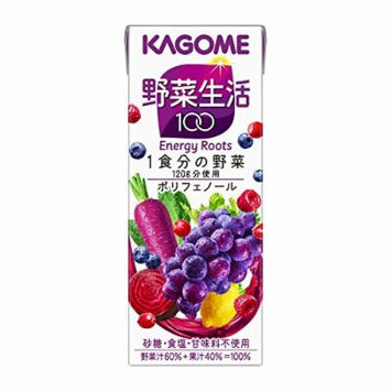 KAGOME LIFE 100 Fruit & Vegetable Juice (Energy Roots) 200ml --30 boxes ($2.7/box)