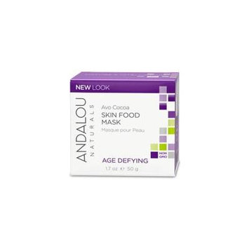 Andalou Naturals, Skin Food Mask, Avo Cocoa, Age Defying, 1.7 oz (50 g)(Pack of 6)