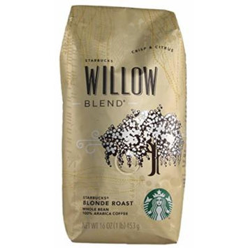 Starbucks - Roasted Whole Bean Coffee - 16 oz - Pack of 2 (Willow Blend)
