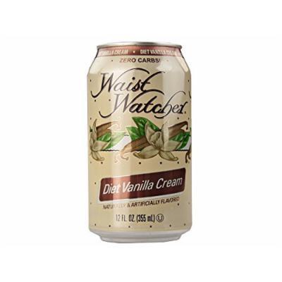 Waist Watcher Caffeine-Free Diet Vanilla Cream Soda, 12 Oz. Cans (Case of 24)
