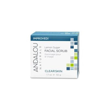 Andalou Naturals, Facial Scrub, Lemon Sugar, Clarifying, 1.7 oz (50 g) (Pack of 6)