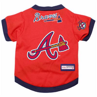 Atlanta Braves Dog Pet Premium Alternate Jersey MEDIUM