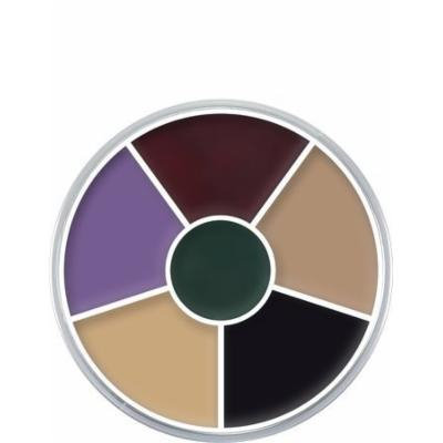 Kryolan Cream Color Circle 1306 Creature Feature Makeup 6 Colors (Black Eye)